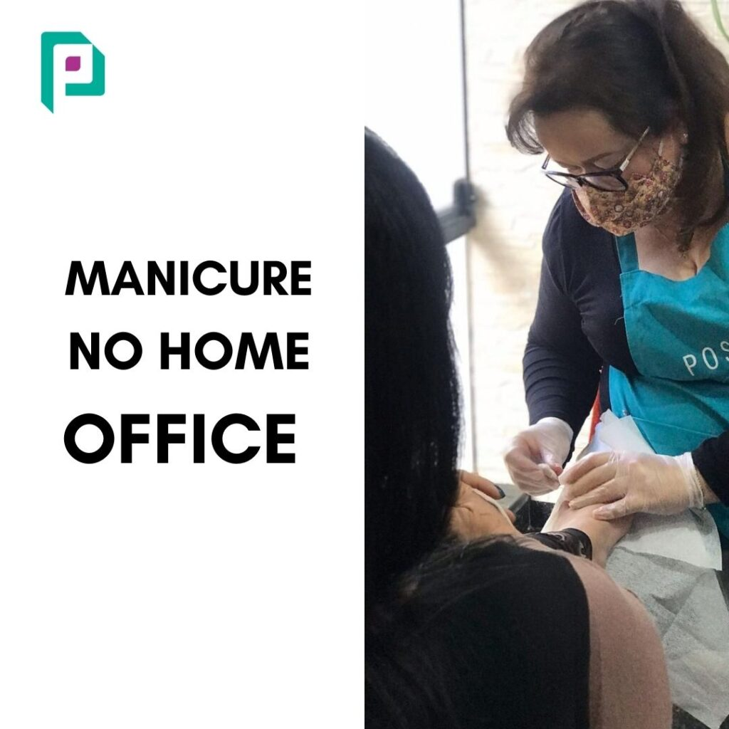 Manicure no home office