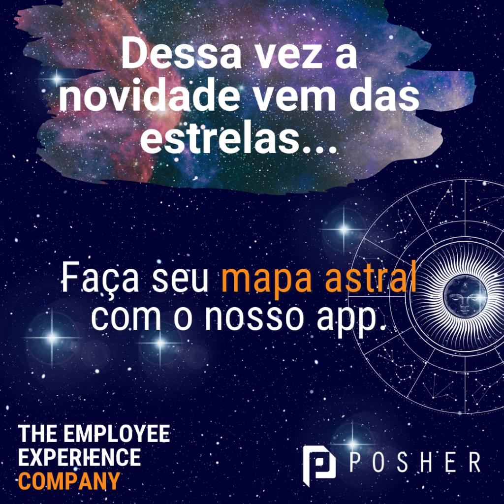Faça o mapa astral com o app da POSHER